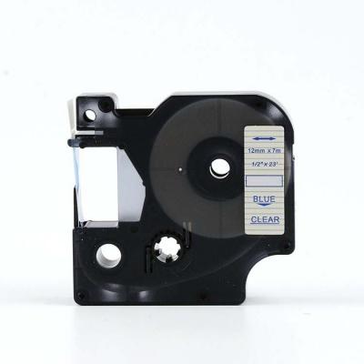 Taśma zamiennik Dymo 45011, S0720510, 12mm x 7m niebieski druk / przezroczysty podkład
