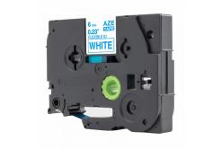 Taśma zamiennik Brother TZ-FX213 / TZe-FX213, 6mm x 8m, flexi, niebieski druk / biały podkład