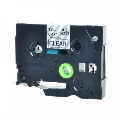 Taśma zamiennik Brother TZ-131 / TZe-131, 12mm x 8m, czarny druk / przezroczysty podkład