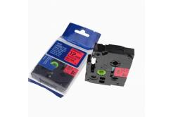 Taśma zamiennik Brother TZ-431 / TZe-431, 12mm x 8m, czarny druk / czerwony podkład