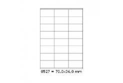 Samoprzylepne etykiety 70 x 36 mm, 24 etykiet, A4, 100 arkuszy