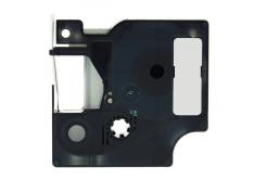 Taśma zamiennik Dymo 1805442, 6mm x 5, 5m czarny druk / biały podkład, polyester