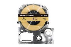 Epson LC-SM6ZW, 6mm x 8m, czarny druk / złoty podkład, taśma zamiennik