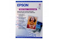 Epson Matte Paper Heavyweight, papier fotograficzny, matowy, silný, biały, Stylus Photo 1270, 1290, A3, 16
