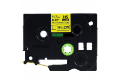 Taśma zamiennik Brother HSe-631 11,7mm x 1,5m, czarny druk / żółty podkład