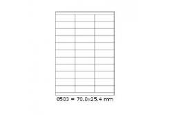 Samoprzylepne etykiety 70 x 25,4 mm, 27 etykiet, A4, 100 arkuszy