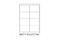 Etykiety samoprzylepne 99,1 x 67,7 mm, 8 szt., A4, 100 arkuszy