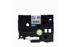 Brother TZe-V251, 24mm x 5,5m, czarny druk / biały podkład, vinyl, taśma zamiennik