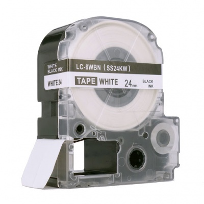 Epson LC-SS24KW, 24mm x 8m, czarny druk / biały podkład, taśma zamiennik