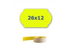 Cenové etykiety do kleští, 26mm x 12mm, 900 szt., signální żółte