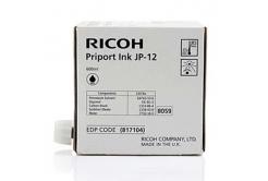 Ricoh originální ink JP 12, black, 600ml, 817104, Ricoh DX3240, 3440, JP1210, 1215, 1250, 1255, 3000