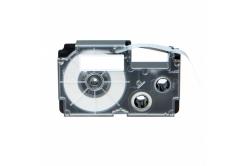 Casio R15WE (XR-24HSWE), 24mm x 2m, 15mm, czarny druk / biały podkład, termokurczliwa, taśma zamiennik