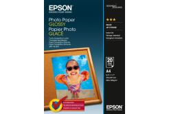 Epson S042538 Photo Paper, błyszczący biały papier fotograficzny, A4, 200 g/m2, 20 szt.