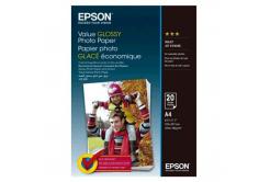Epson Value Glossy Photo Paper, biały błyszczący papier fotograficzny, A4, 200 g/m2, 20  szt., C13S400035