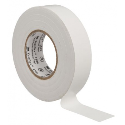 3M Temflex 1500 Taśma elektroizolacyjna , 19 mm x 20 m, biały