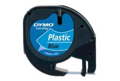 Dymo LetraTag 59426,S0721600 / S0721650 12mm x 4m czarny druk / niebieski podkład taśma oryginalna