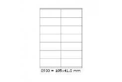 Samoprzylepne etykiety 105 x 41 mm, 14 etykiet, A4, 100 arkuszy