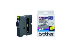 Brother TX-641, 18mm x 15m, czarny druk / żółty podkład, taśma oryginalna