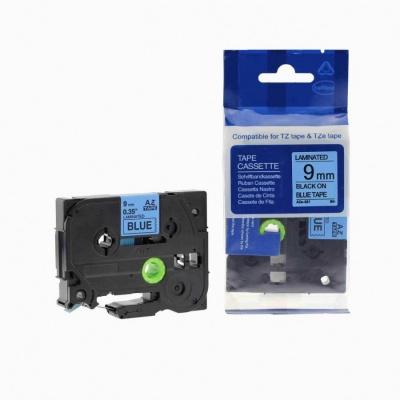 Taśma zamiennik Brother TZ-521 / TZe-521, 9mm x 8m, czarny druk / niebieski podkład