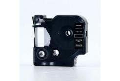 Taśma zamiennik Dymo 45021, S0720610, 12mm x 7m biały druk / czarny podkład
