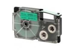 Casio XR-12GN1, 12mm x 8m, czarny druk / zielony podkład, taśma oryginalna