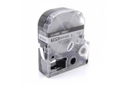Epson LC-SM6X, 6mm x 8m, czarny druk / matowy srebrny podkład, taśma zamiennik