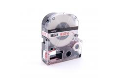 Epson LC-SS6RW, 6mm x 8m, czerwony druk / biały podkład, taśma zamiennik