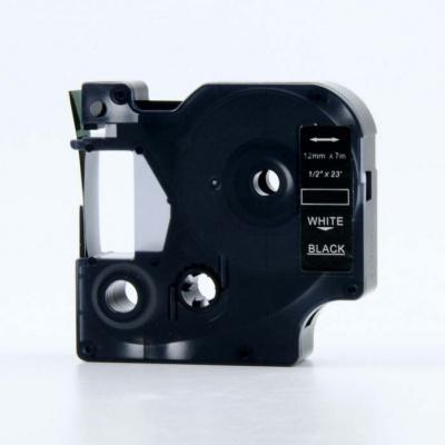 Taśma zamiennik Dymo 53721, 24mm x 7m, biały druk / biały podkład