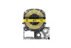 Epson LC-SC6YW, 6mm x 8m, czarny druk / żółty podkład, taśma zamiennik