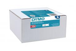 Dymo D1 45013, 2093097, 12mm x 7m, czarny druk / biały podkład, taśma oryginalna, 10 szt.