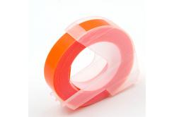 Dymo Omega, 9mm x 3m, biały tisk / fluorescencyjny pomarańczowa podkład, taśma zamiennik