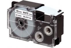 Casio XR-18X1, 18mm x 8m, czarny druk / przezroczysty podkład, taśma oryginalna