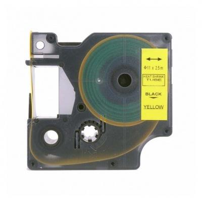 Taśma zamiennik Dymo 18058, S0718340, 19mm x 1, 5m czarny druk / żółty podkład