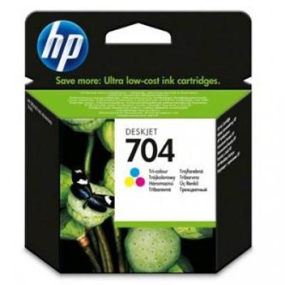 HP 704 CN693AE kolorowa tusz oryginalna