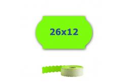 Cenové etikety do kleští, 26mm x 12mm, 900ks, signální zelené