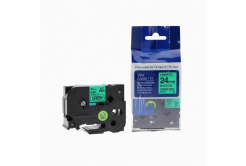 Taśma zamiennik Brother TZ-751 / TZe-751, 24mm x 8m, czarny druk / zielony podkład
