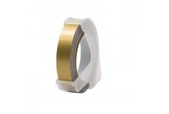 Dymo Omega, 9mm x 3m, biały druk / złoty podkład, taśma zamiennik