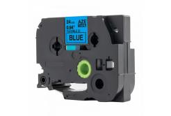 Taśma zamiennik Brother TZ-FX551 / TZe-FX551, 24mm x 8m, flexi, czarny druk / niebieski podkład