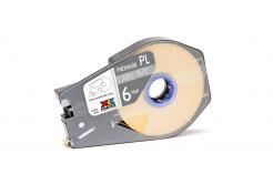 Partex PROMARK-PL060CN4, żółty samolepicí taśma, 6mm, 30m