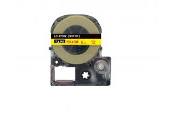 Epson LC-SC6YR, 6mm x 8m, czerwony druk / żółty podkład, taśma zamiennik