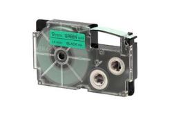 Casio XR-9GN1, 9mm x 8m, czarny druk / zielony podkład, taśma oryginalna