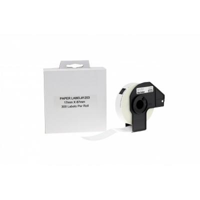 Brother DK-11203, 17mm x 87mm, etykiety papierowe zamiennik