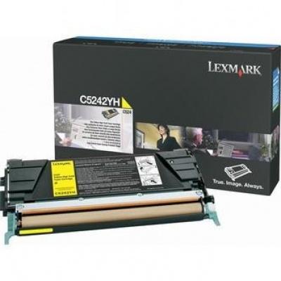 Lexmark C5242YH żółty (yellow) toner oryginalny