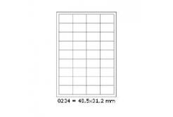 Samoprzylepne etykiety 48,5 x 31,2 mm, 36 etykiet, A4, 100 arkuszy