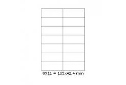 Samoprzylepne etykiety 105 x 42,4 mm, 14 etykiet, A4, 100 arkuszy