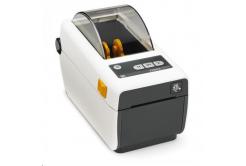 Zebra ZD410 ZD41H23-D0EW02EZ drukarka etykiet, 12 dots/mm (300 dpi), MS, RTC, EPLII, ZPLII, USB, BT (BLE, 4.1), Wi-Fi, biała