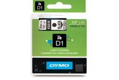 Dymo D1 45010, S0720500, 12mm x 7m czarny druk / przezroczysty podkład, taśma oryginalna