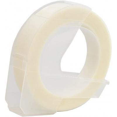 Dymo Omega, 9mm x 3m, biały tisk / przezroczysty podkład, taśma zamiennik