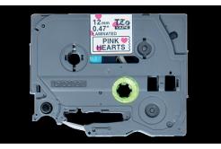 Brother TZ-MPPH31 / TZe-MPPH31, 12mm x 4m, czarny druk / biały-różowy podkład, taśma oryginalna