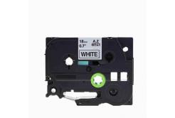 Brother TZe-V241, 18mm x 5,5m, czarny druk / biały podkład, vinyl, taśma zamiennik